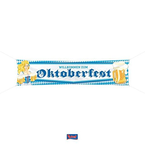 Folat Oktoberfest Spruchband Bierkrug - 180x40 cm