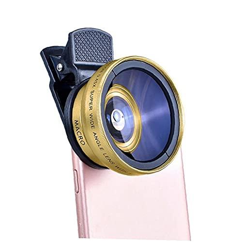 Lente de la lente telefónica Lente de lente de gran angular Super de lente HD de 37 mm del teléfono del teléfono Clip de oro de la comunicación electrónica de oro
