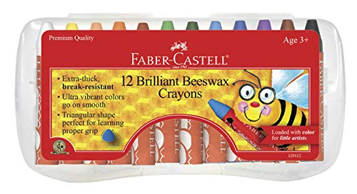 Faber Castell FC129112 Beeswax Crayons, 9.75' Height, 4.5' Width, 0.75' Length (Pack of 12)