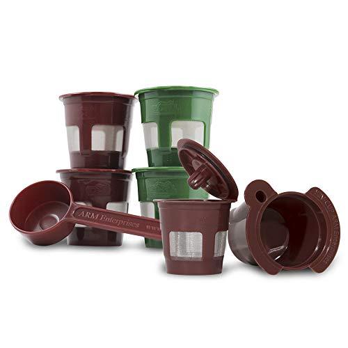 Perfect Pod K2V-Cup Adapter + 5 Reusable Coffee Pod Filters & 1-Tbsp Measuring Coffee Scoop Bundle for Keurig VUE Coffee Maker