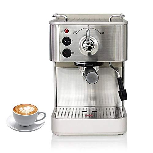 RWQRWQ Cafetera Espresso SemiautomáTica De 1050 W, Cafetera De Acero Inoxidable De 1,7 L, Bomba De 19 Bar, Sistema Cappuccino