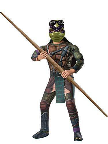Teenage Mutant - Ninja Turtles Donatello Deluxe für Kinder mit Polsterungen - Gr. 128-134cm