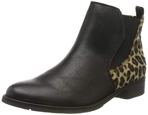 MARCO TOZZI Damen 2-2-25039-33 Chelsea Boots, Schwarz (Black/Nat. Leo 031), 39 EU