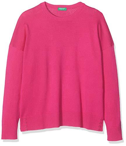 United Colors of Benetton Basic G3, Camiseta de manga larga Niñas, Rosa (Fucsia 19t), 1Y (Talla fabricante: 1Y)