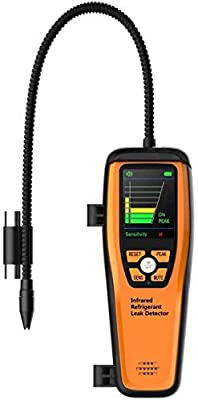 Elitech WJL-6000 Series Freon Leak Detector Halogen Leak Detector Refrigerant Gas Leakage Tester HVAC Air Condition R22 R410A R134A CFCs HCFCs HFCs Detects High Accuracy