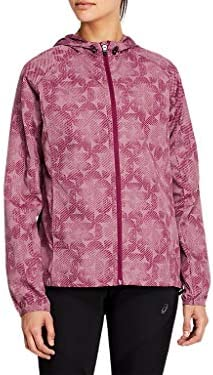 ASICS Women s Packable Jacket M Purple Oxide Dried Berry Linear Eclipse product image