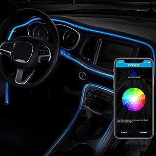 "Type S LM55879-1 Interior Car LED Strip Lights 72"" Smart LED Interior Trim Lighting Kit, Multicolor RGB Fiber Optic LED Ne..."