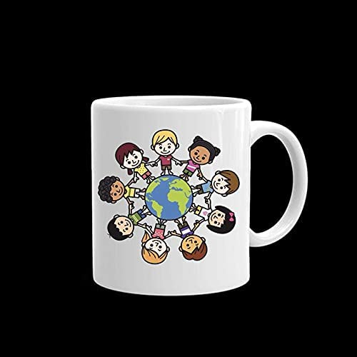 New product!! Happy Earth Outstanding Day Children Around The Gift or 15oz Whit 11oz World
