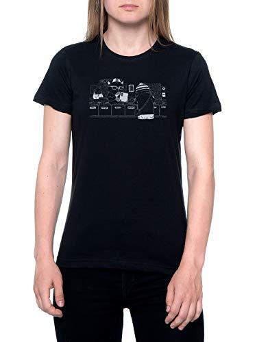 A el Grabar Tienda Camiseta Mujer Negra T-Shirt Women's Black