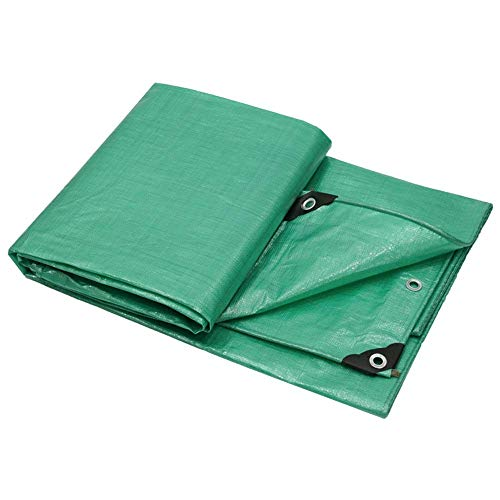 NMDCDH Tarp Tarpaulin Waterproof Heavy Duty - Home & Garde Green Tarp Sheet - Premium Quality Cover Made of 160 g/m² Polyethylene and Double Laminated metre Tarpaulin-Available in a variety of