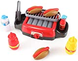PowerTRC Hot Dog Roller Grill Electric Stove Play Set | Food Kitchen Appliance | Kids Pretend Play...