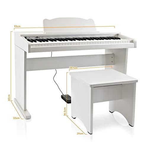JDP-1 Junior Digitalpiano von Gear4music weiß - 9