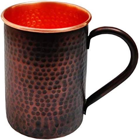Staglife Moscow Mule Copper Mugs and Cups Straight Copper Mugs with Antique Finish Set of 2 product image
