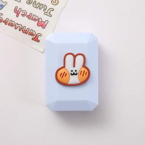 Myopie Kontaktlinsenkoffer Kosmetik Aufbewahrungsbox Tragbare Pflegekoffer-Blue Box Bunny