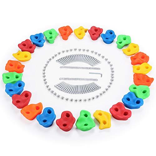 FascolPrese Arrampicata Bambini, Arrampicata Bambina Interno o Esterno in Materiale Opaco Antiscivolo e Multicolore, Arrampicata Set per Bambini Impermeabile, 25PCS