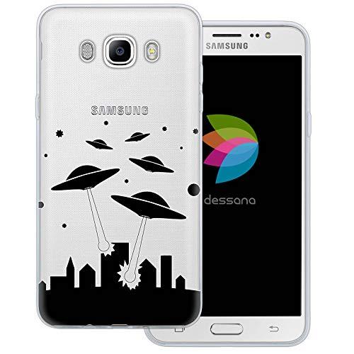 dessana Universum - Cover trasparente per Samsung Galaxy J7 (2016) Alien UFO