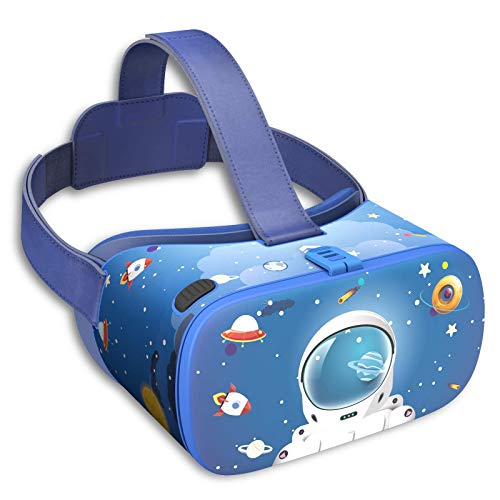 DESTEK VR Headset for Kids, Educational 3D VR Virtual Reality Goggles for School Classroom Home, Universal VR Headset Movies, Games for iPhone for Samsung Android Smartphone