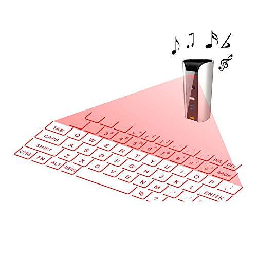 Ashey Wireless Keyboard Projektor, Tragbare Mini Wireless Keyboard Projektor Projektions Tastatur Maus Für Tablet-Telefon