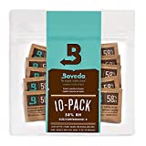 Boveda 58% RH 2-Way Humidity Control   Size 8 in 10-Count Resealable Bag