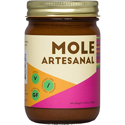 Mole Artesanal Traditional Mexican Mole Poblano Sauce 12.35 oz (2 Jars)
