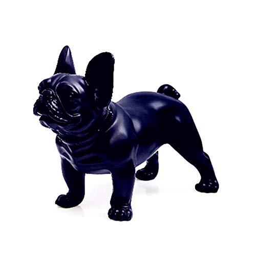 BOZNY Estatua de la Escultura Pintura Bulldog Estatua Simulación Perros Animal...