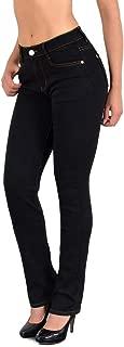 ESRA Damen Jeans Hose Damen Jeanshose gerader Schnitt bis Übergröße Übergrösse Gr. 54, 56, 58# J25