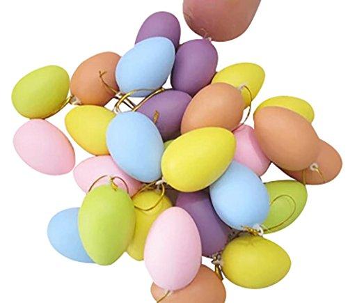 Longra 12pcs Enfants Bricolage Peinture Egg Toy Avec Cadeaux Rope Plastique Pâques