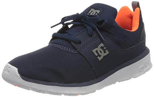 Dc Shoes Heathrow, Zapatillas Hombre, Dc Navy/Orange, 37 Eu