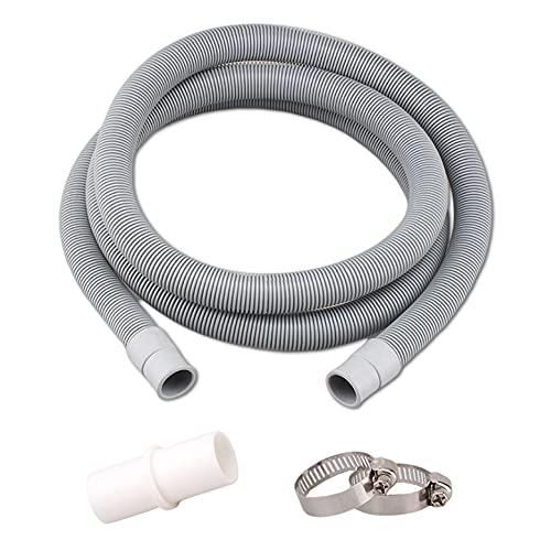 Manguera de desagüe para lavadoras de 1,5 m, manguera de desagüe para lavavajillas y lavadora