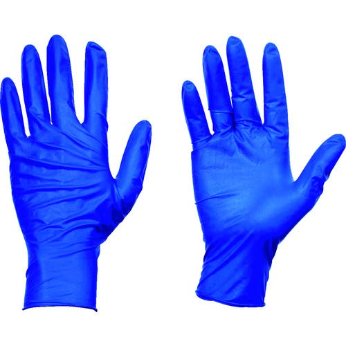 TRUSCO(トラスコ) 10箱入り 使い捨て天然ゴム手袋 TGセーフ 0.12 粉無青L TGNL12BL10C