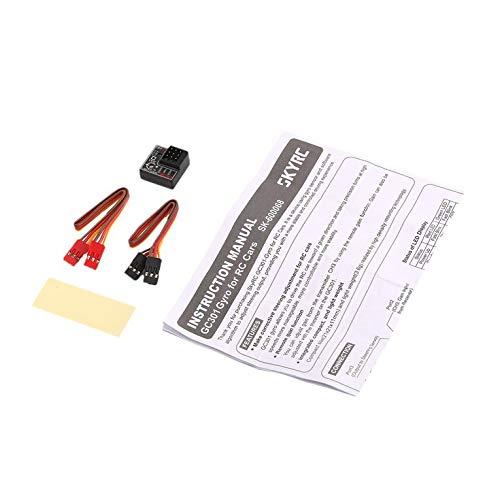 QiKun-Home SKYRC GC301 Mini Giroscopio Giroscopio per RC Auto Drift Racing Car Sterzo Uscita Integrato Compatto Design Leggero Nero