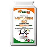 NutriSol Health NAC - N-Acetyl-Cysteine 600mg 120 Capsules | Amino Acid | Antioxidant | Supports glutathione Production | Supports Healthy Liver and Lung Function | Suitable for Vegetarian & Vegans