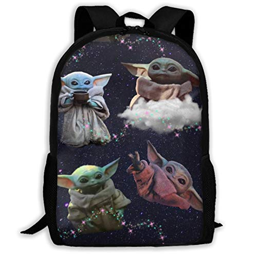 Star Yoda Wars - Mochila de viaje ligera para el colegio al aire libre, impermeable, resistente al agua, mochila de ordenador para niños y niñas