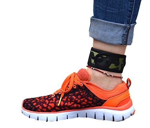 B-Great Knöchelband für Damen und Herren, kompatibel mit Fitbit Flex 2/One/Zip/Charge 2 3/Alta HR oder Garmin Vivofit/2/3/4/JR Fitness Tracker (Camo Muster, Medium)