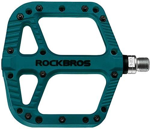 ROCKBROS Bike Pedals Nylon Fiber 9/16' Cycling Wide Platform Flat Pedals...