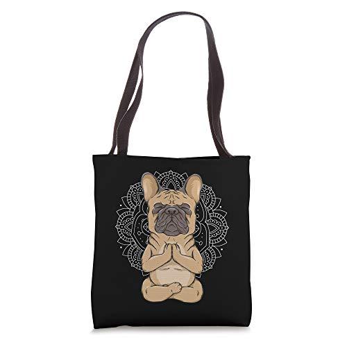 Frenchie Meditation French Bulldog Spirituality Cute Animal Tote Bag
