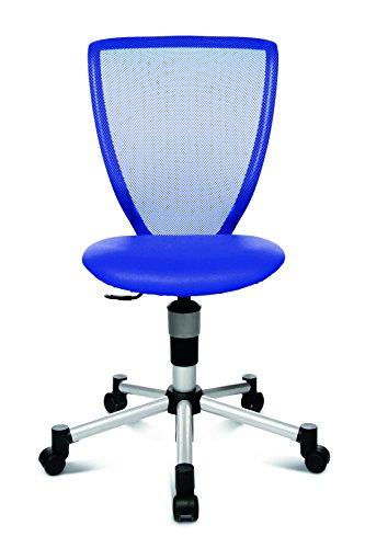 Topstar Bürodrehstuhl Titan Junior blau - Doppelrollen-Set für Teppichböden