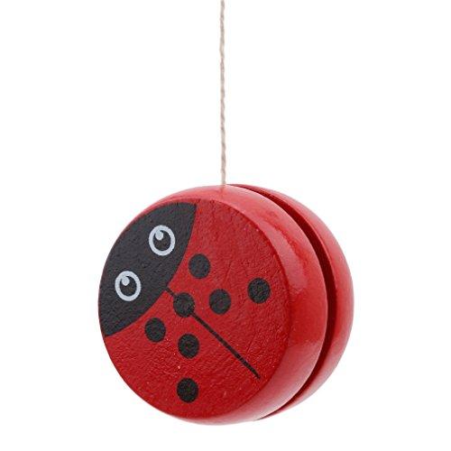 yinew Holz Yoyo Classic Toys Creative Building Persönlichkeit Sport Hobby Yoyo für Kinder Jungen Mädchen, Holz, Red Beetle, Siehe Produktbeschreibung