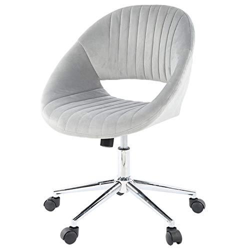 Emoshayoga Tocador Cómodo Gran Soporte Lumbar Suministros de Oficina Silla de Terciopelo Muebles domésticos Simples y Elegantes(Gray)