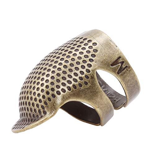 L_shop Vintage Nähen Fingerhut Quilten Fingerhut Nadelschutz Fingerschutz Nähmaschine Handarbeiten DIY Handwerk Werkzeuge, wie es Beschreibung (L), große Retro