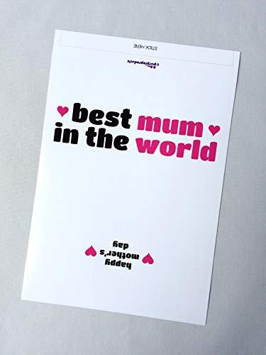 Paarse producten Beste moeder in de wereld, Moederdag Galaxy Chocolade WRAPPER Gift. Alleen wikkelaar. Lees de beschrijving.