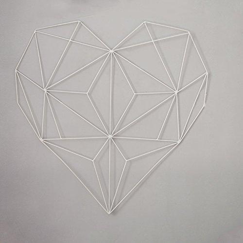 CQ Einfacher Schmiedeeisen-Foto-Rahmen-hängende Wand-Speicher-Gitter-Foto-Wand-Rahmen-Klipp hängende Foto-Wand-Ins Herz-förmige Wand-Dekoration weiß
