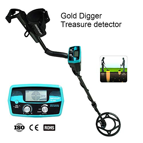 allsun Pro Underwater Metal Detector Underground Waterproof Gold Finder Treasure Hunter 2 Modes...