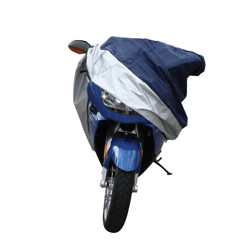 Pilot CC-6332 Blue/Silver Motorcycle Cover – Medium Durable Weather Resistant Cover for your Motorcycle