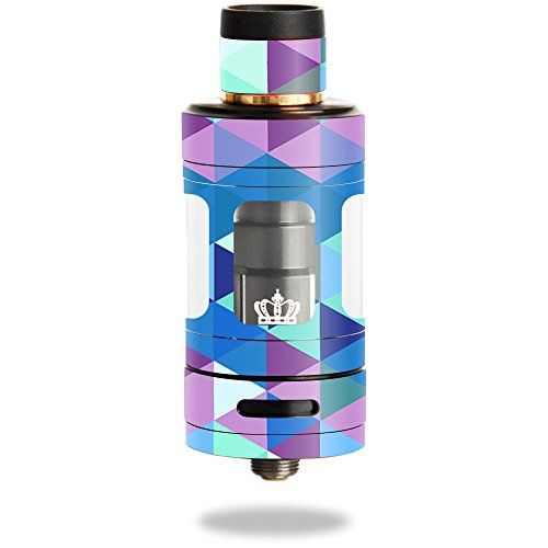 MightySkins Skin Compatible with Uwell Crown 3 Tank – Purple Kaleidoscope | Protective, Durable, and Unique Vinyl Decal wrap Cover | Easy to Apply, Remove, and Change Styles | Made in The USA