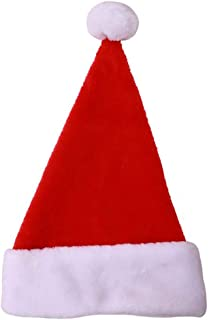 MEI XU Christmas Hat - Christmas Decorations Plush Christmas Hat Big Ball Thicken Old Man Hat Holiday Dress Up (3 Pack) @