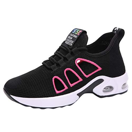 Schuhe Damen Herren Sneaker Flache Stiefel Outdoor Atmungsaktiv Licht DOLDOA (EU:40, Schwarz)