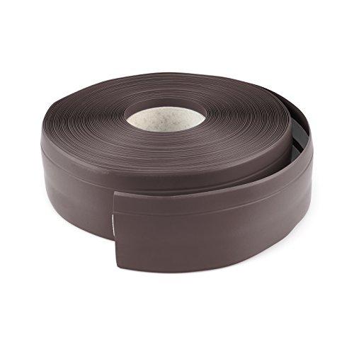DQ-PP WEICHSOCKELLEISTE | 20m | schokolade | 50x15mm | PVC | selbstklebend | Knickwinkel Fussleisten Gummileiste Sockelleiste Winkelprofil Abschlussleiste Bodenleiste