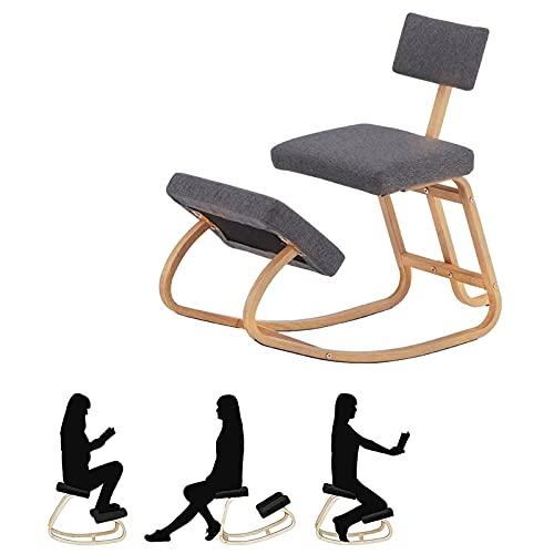 Silla Ergonomica de Rodillas, Silla Ergonómica para Ordenador Taburete de Rodillas para Casa y Oficina Resistente y cómodo - Taburete ortopédico