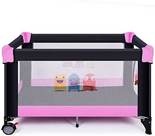 Baby Mobile para CIB Cuna Cuna 2in1 Cuna Baby Baby Cama con colchón y bolso de almacenamiento de viaje adecuado desde el nacimiento hasta 5 años (Color : Pink)